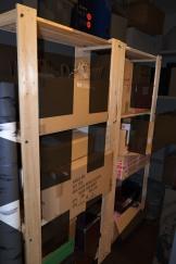 Storage shelves x3